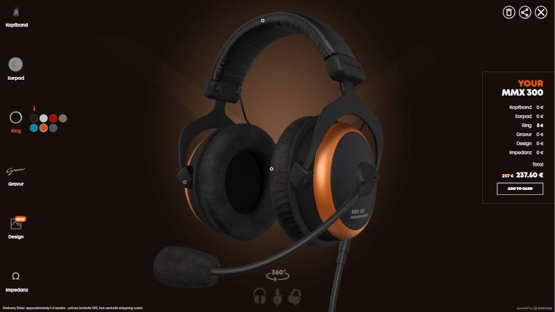Beyerdynamic's Manufaktur: Interactive 3D headphones customization