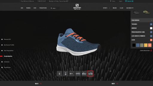 Salomon Running Shoe 3D Customization